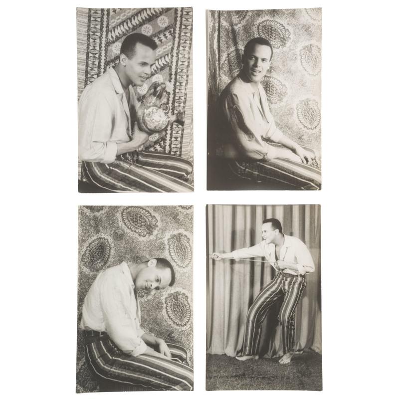 Harry Belafonte Real Photo Postcards by Carl Van Vechten, ca 1947
