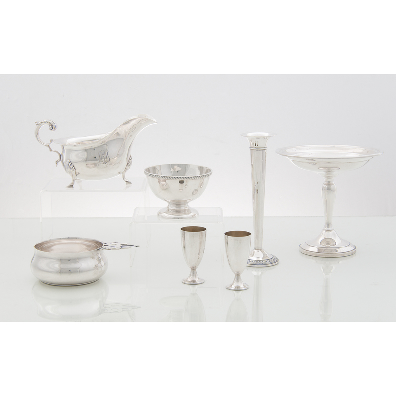 American and British Sterling Tablewares
