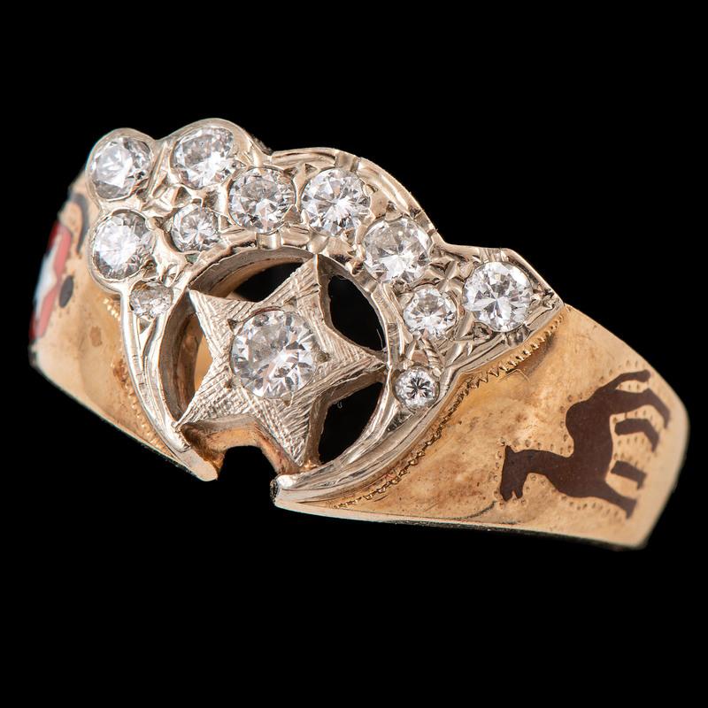 14k Bicolor Gold Shriner Ring