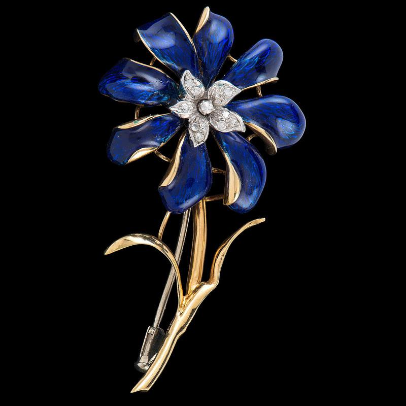 Corletto 18k Gold Flower Brooch