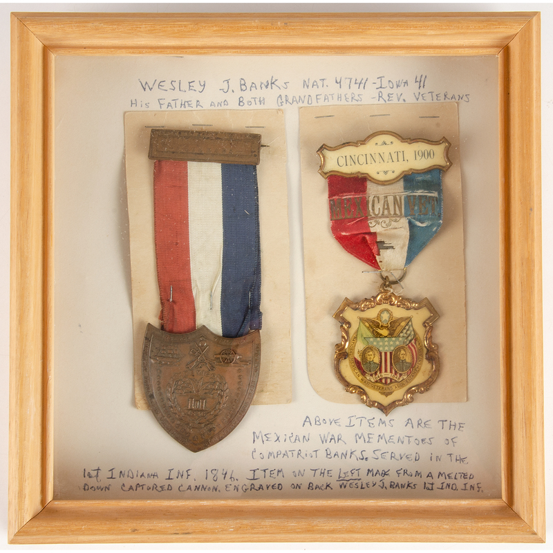 Mexican-American War Medals of Corporal Wesley J. Banks