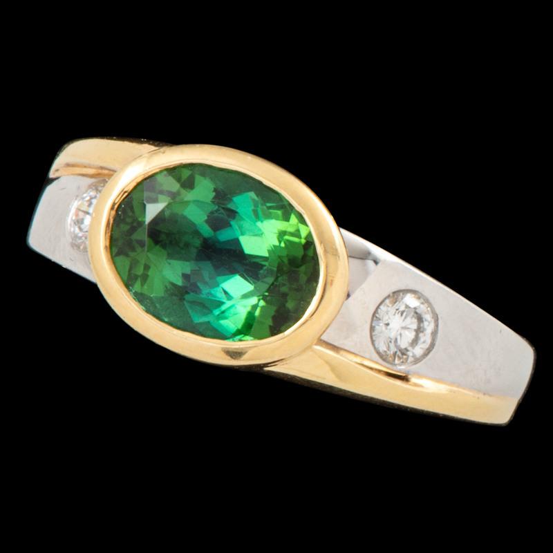 Richard Krementz Platinum and 18k Gold Ring