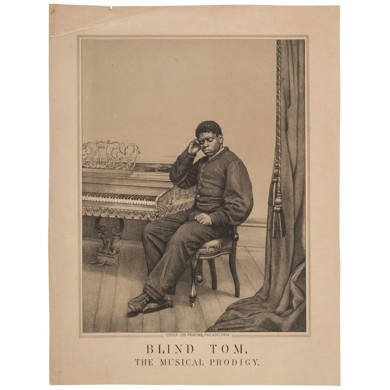 Blind Tom, The Musical Prodigy Broadside, ca 1879