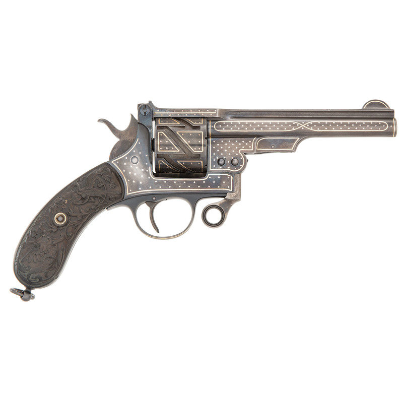 Exhibition-Quality Gold and Silver Decorated Medium Mauser Zig-Zag Revolver