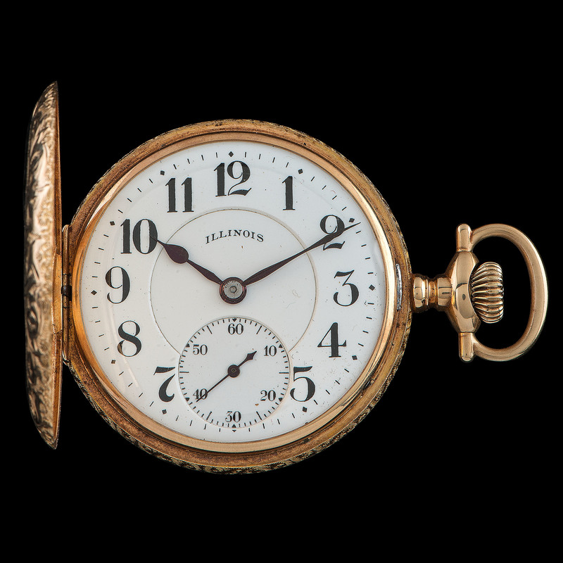 14k Gold Illinois A. Lincoln Pocket Watch