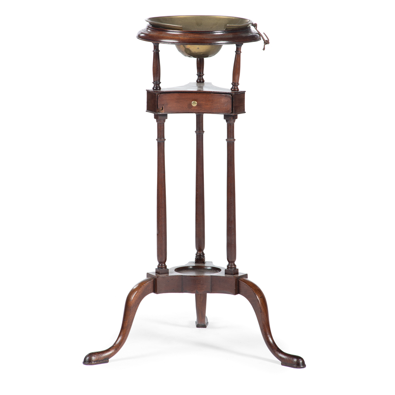 A Chippendale Carved Mahogany Shaving Stand