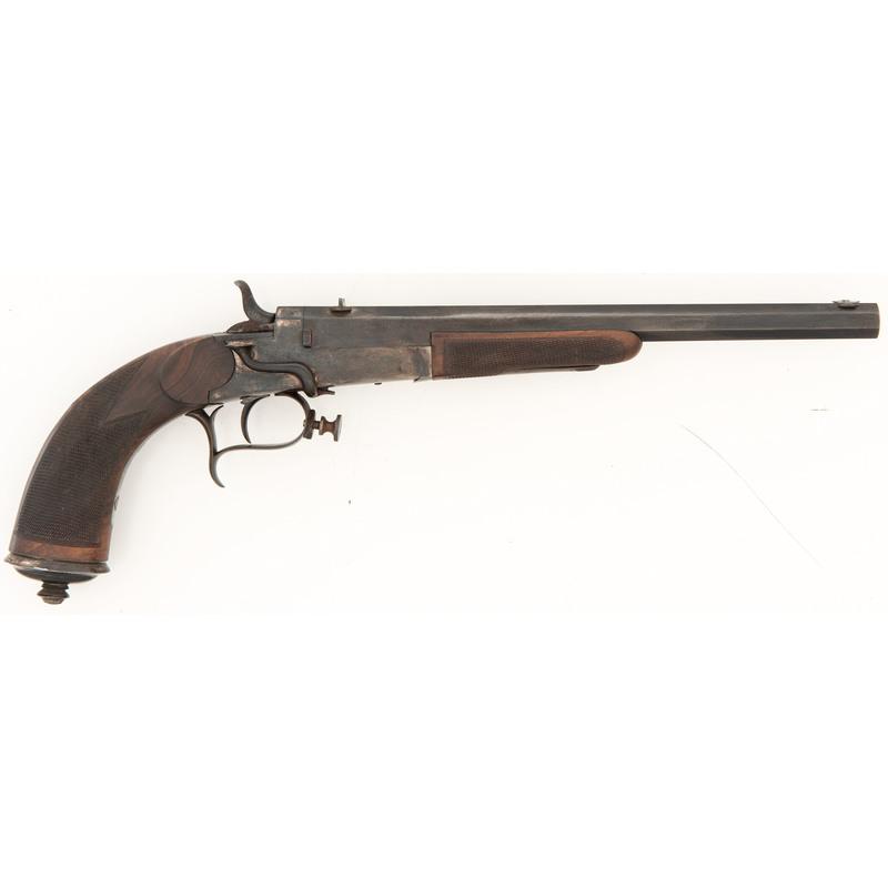 Large German Centerfire Target Pistol