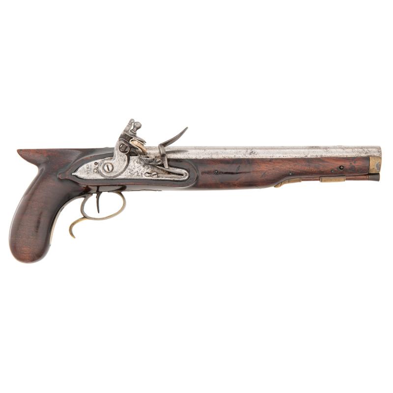 J Henry Single-Shot Flintlock Martial Pistol