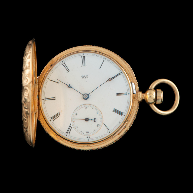 18k Gold Lady Elgin Gold Pocketwatch with 14k Chain