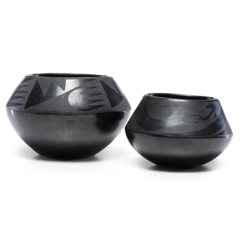 Anna Montoya (San Ildefonso, 1885-1955) Blackware Pottery
