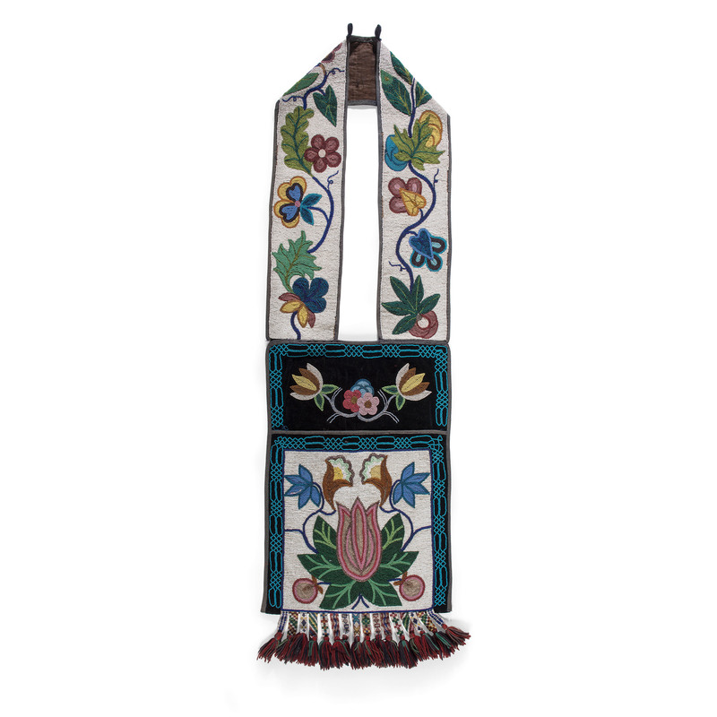 Anishinaabe Beaded Bandolier Bag, From the Stanley Slocum Collection, Minnesota