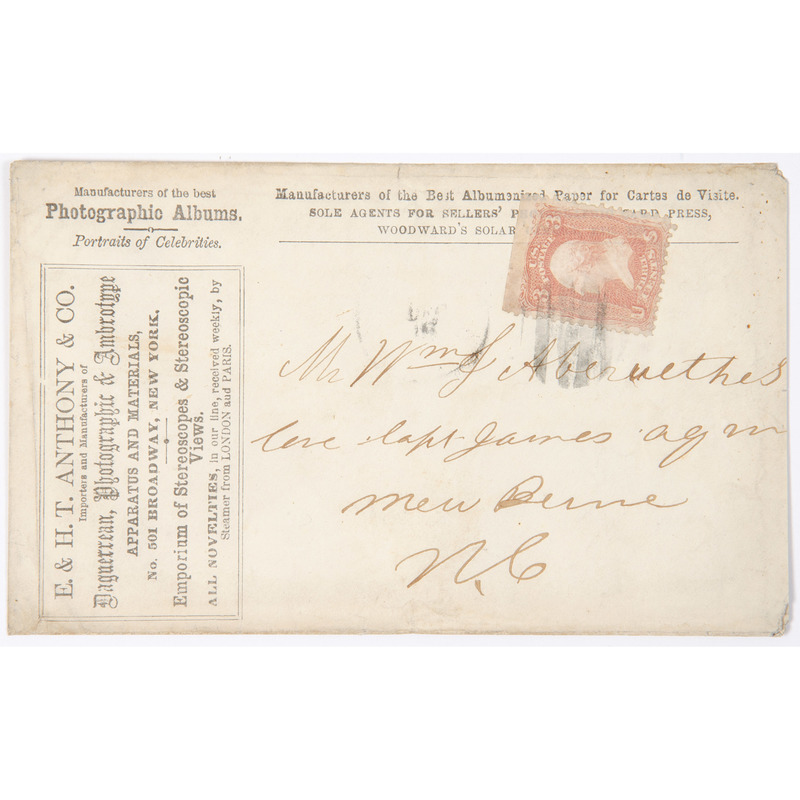 E. & H.T. Anthony & Co. Postally Used Cover