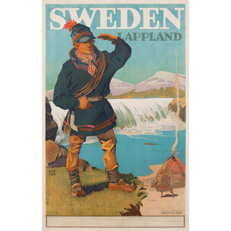 Max Ettler (1879-1952) Sweden Lappland