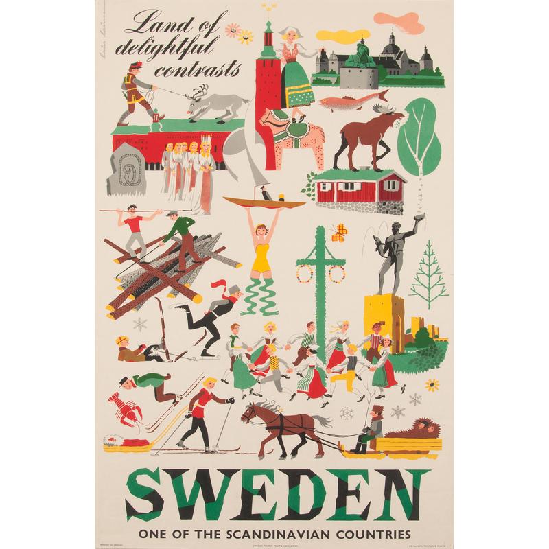 Laus Lauesen (Danish, 20th Century) Sweden, Plus, Lot of Three