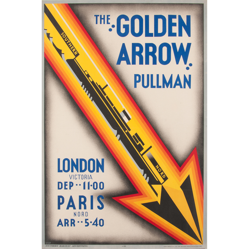 Charles Shepherd (Shep) (British, b. 1892) The Golden Arrow Pullman