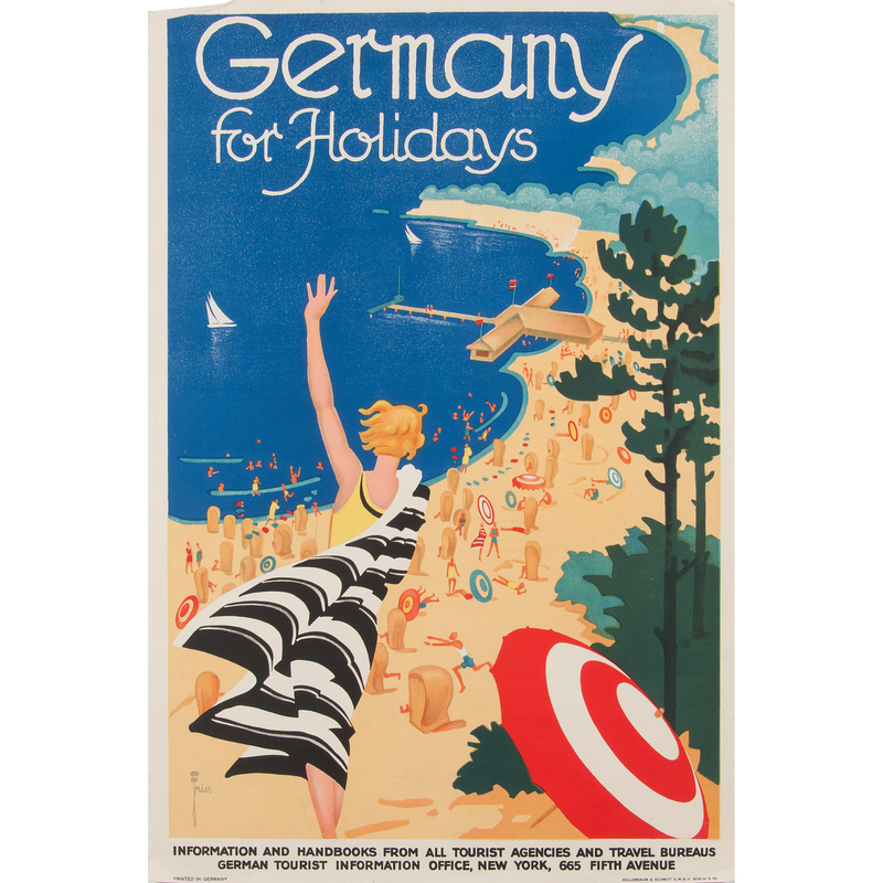 Leonhard F. Willy Fries (Swiss-born, 1881-1965) Germany for Holidays