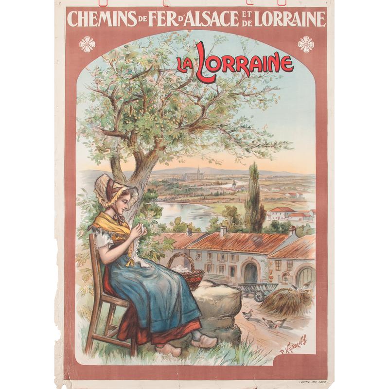 P. Kauffmann (20th Century) La Lorraine