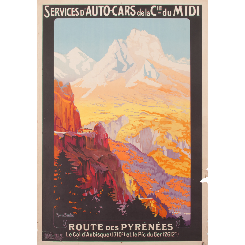Roger Soubie (French, 1898-1984) Route des Pyrénées