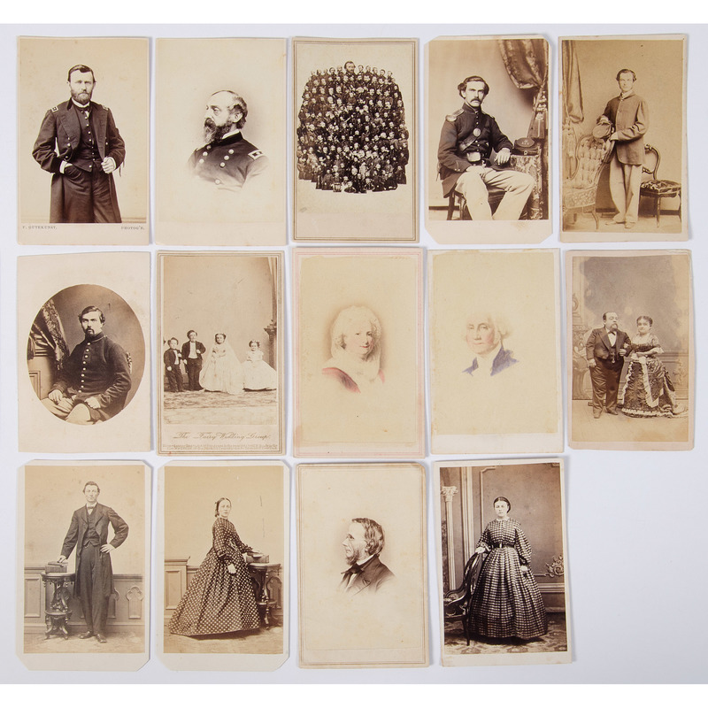 Civil War CDVs of Union Generals and Enlisted Men, Incl. Alfred Lukens, 118th PA Infantry, KIA