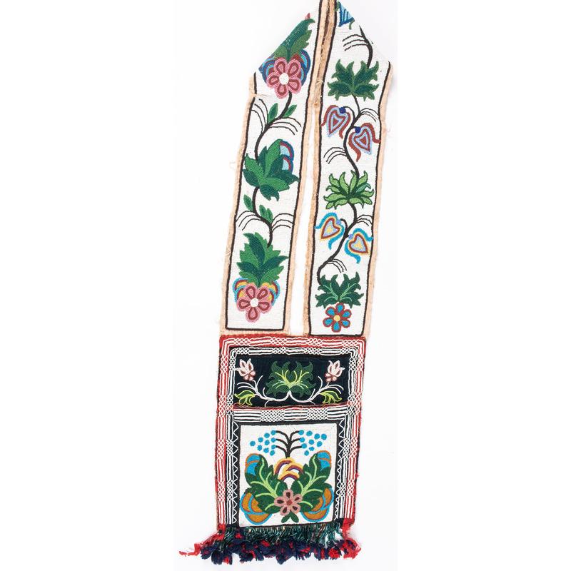 Anishinaabe Beaded Bandolier Bag