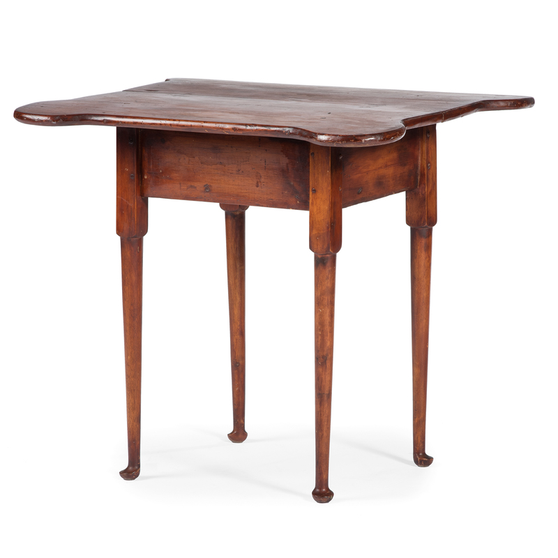 A Queen Anne Pine and Maple Porringer Top Tavern Table