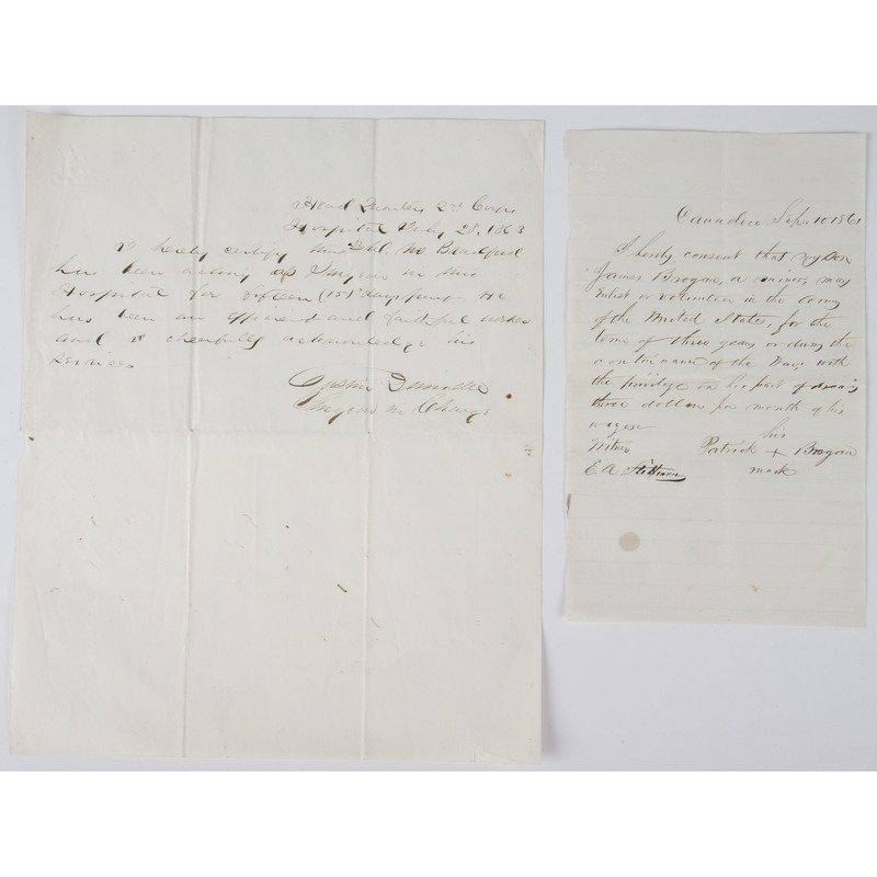 Two Somewhat Unusual Civil War Documents