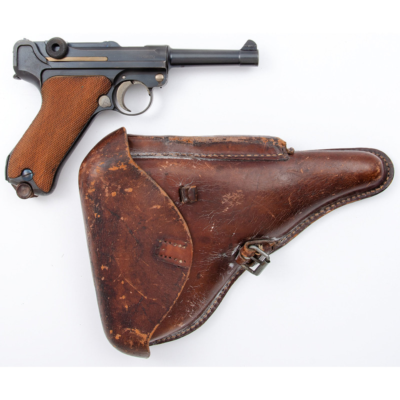 ** Model 1920 Commercial  German Luger with Leather Holster