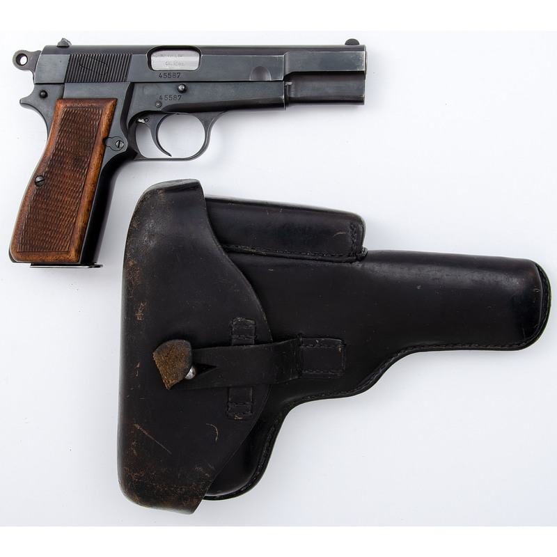 ** Browning Hi Power with Leather Holster