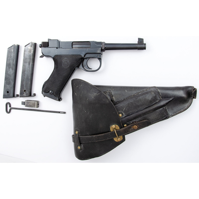 ** Swedish Lahti M40 Pistol With Holster