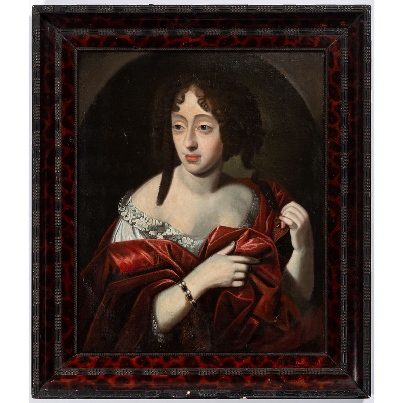 A European Portrait of a Woman in a Red Dress