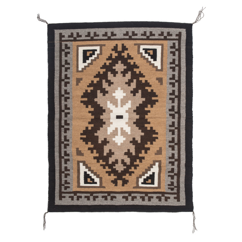 Master Weaver Evelyn George (Dine, 20th century) Navajo Two Grey Hills Weaving/ Rug