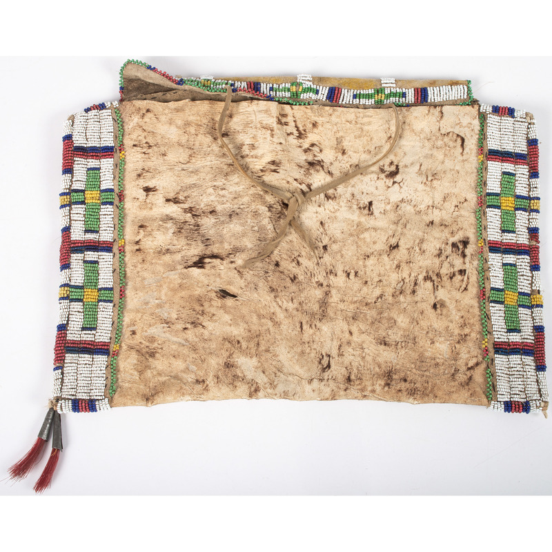 Sioux Woman's Beaded Hide Work Bag