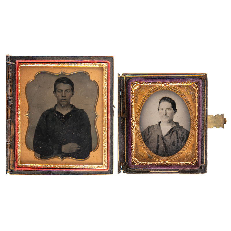 Tintype and Ambrotype of Unidentified Enlisted Sailors