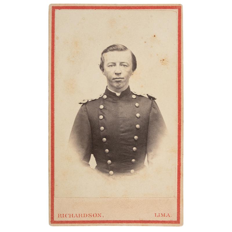 Signed CDV of Lieutenant William S. Muse, USMC, Future Brigadier General