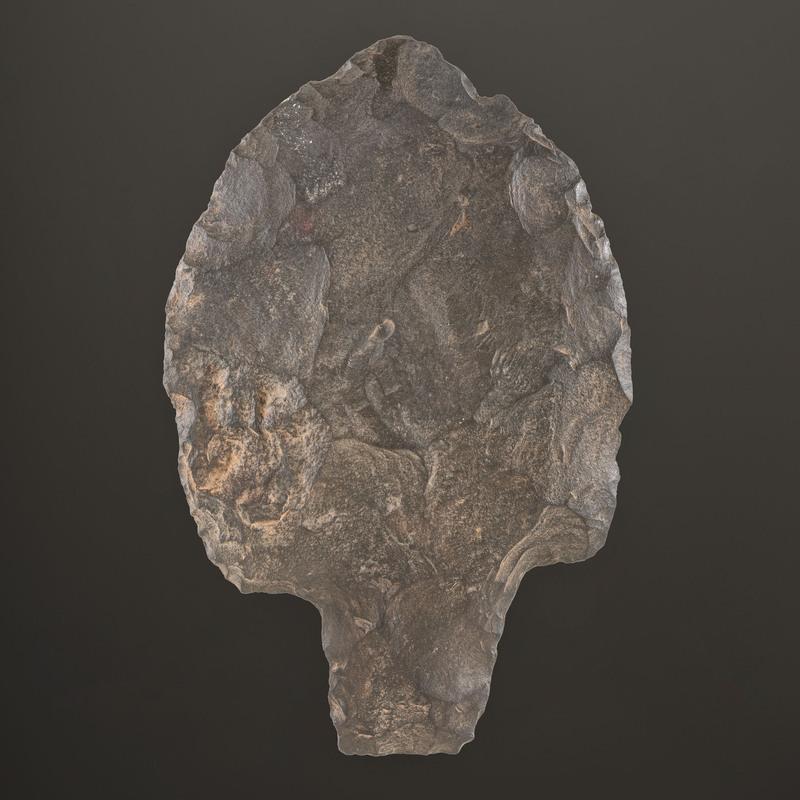 A Spiro Mound Stemmed Hoe, Length 7-3/8 in.