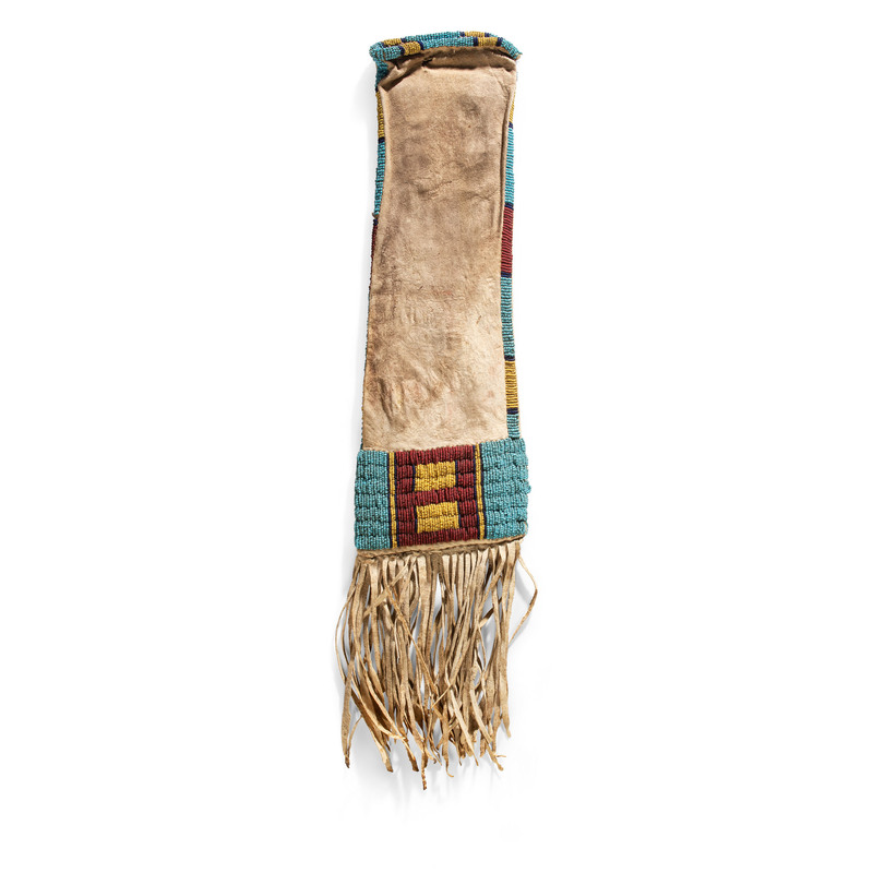 Northern Plains Beaded Hide Tobacco Bag, From the Collection of Nick and Donna Norman, Colorado