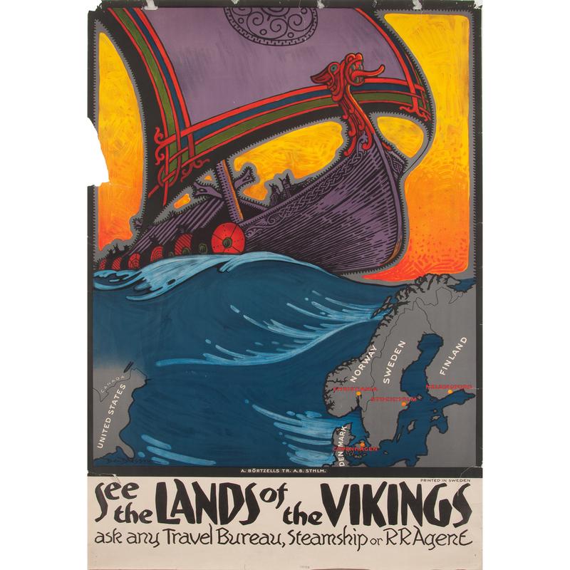 Benjamin Blessum (American, 1877-1954) See the Lands of the Vikings