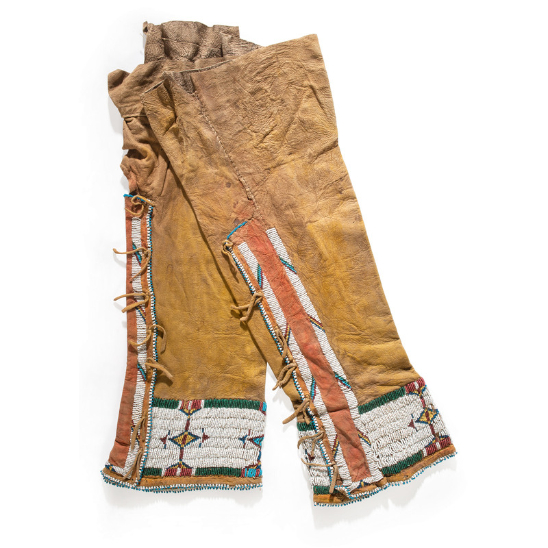 Cheyenne Woman's Beaded Hide Leggings, From the Collection of Nick and Donna Norman, Colorado