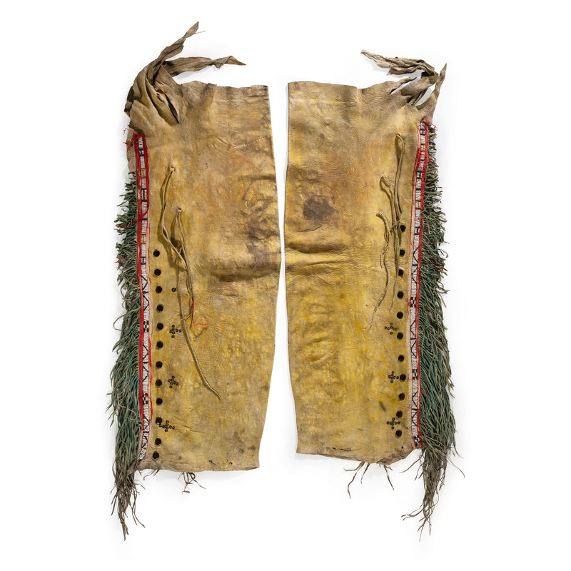 Central Plains Beaded Hide Leggings, From the Collection of Nick and Donna Norman, Colorado