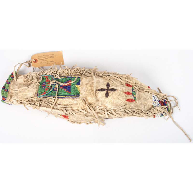Sioux Beaded Hide Bag, From the Stanley B. Slocum Collection, Minnesota