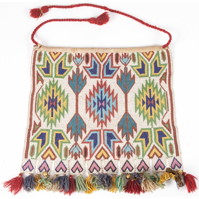 Ho Chunk Loom Beaded Panel, From the Stanley B. Slocum Collection, Minnesota
