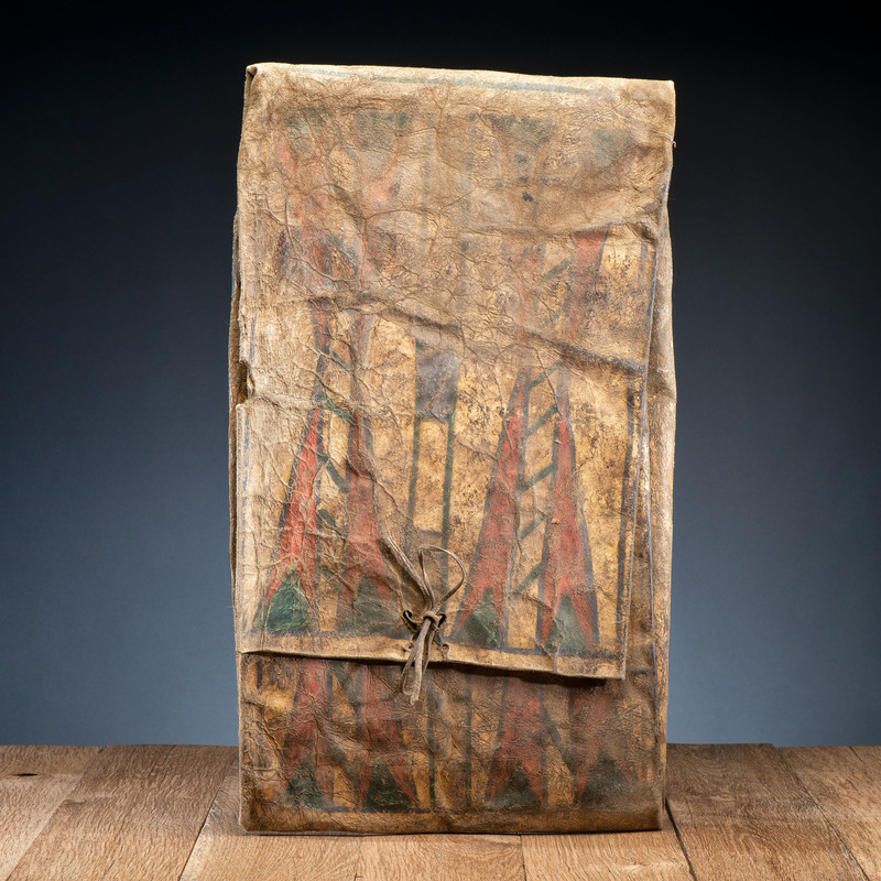 Sioux Buffalo Hide Parfleche Envelope, From the Stanley B. Slocum Collection, Minnesota