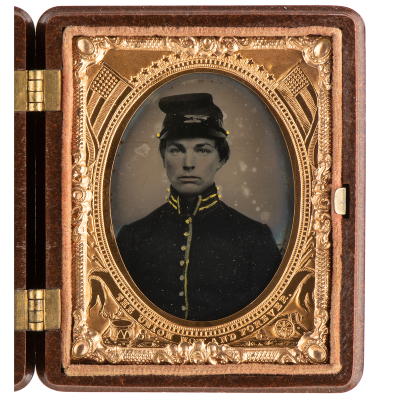 Ninth Plate Ambrotype of Private Conrad Miller, 5th West Virginia Cavalry, Imprisoned at Andersonville