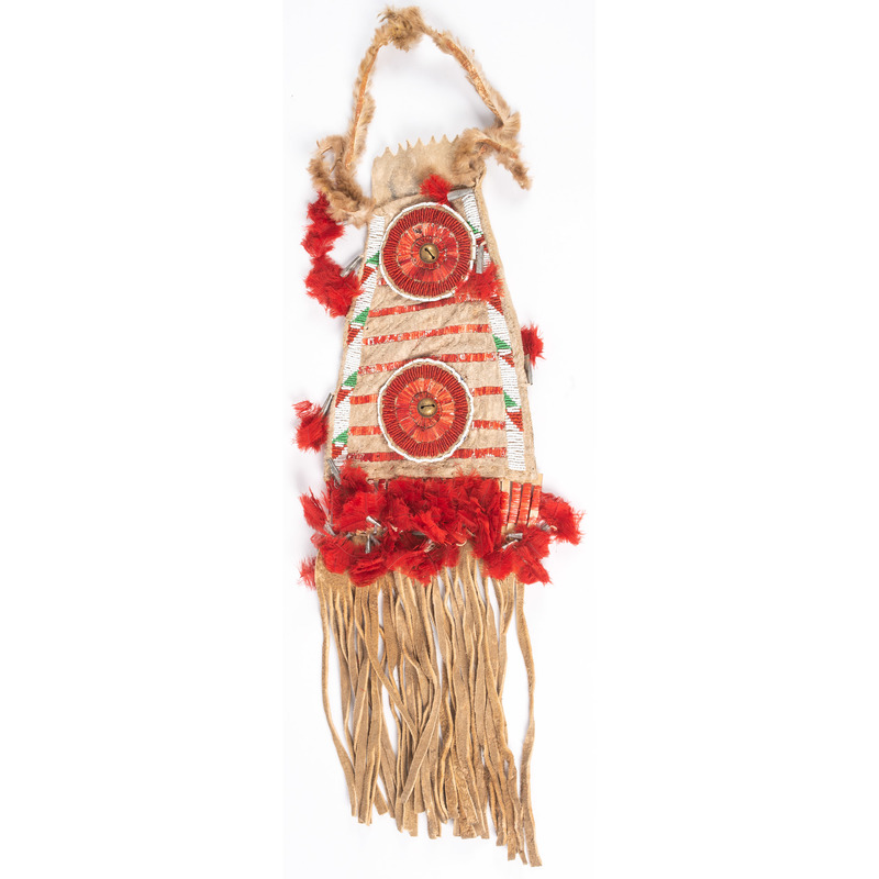Sioux Quilled and Beaded Bag, From the Stanley B. Slocum Collection, Minnesota