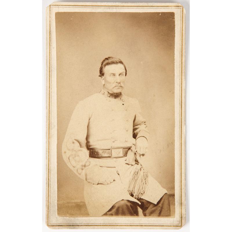 Confederate Colonel John Q.A. Nadenbousch, 2nd Virginia Infantry, WIA 2nd Manassas and Chancellorsville, CDV