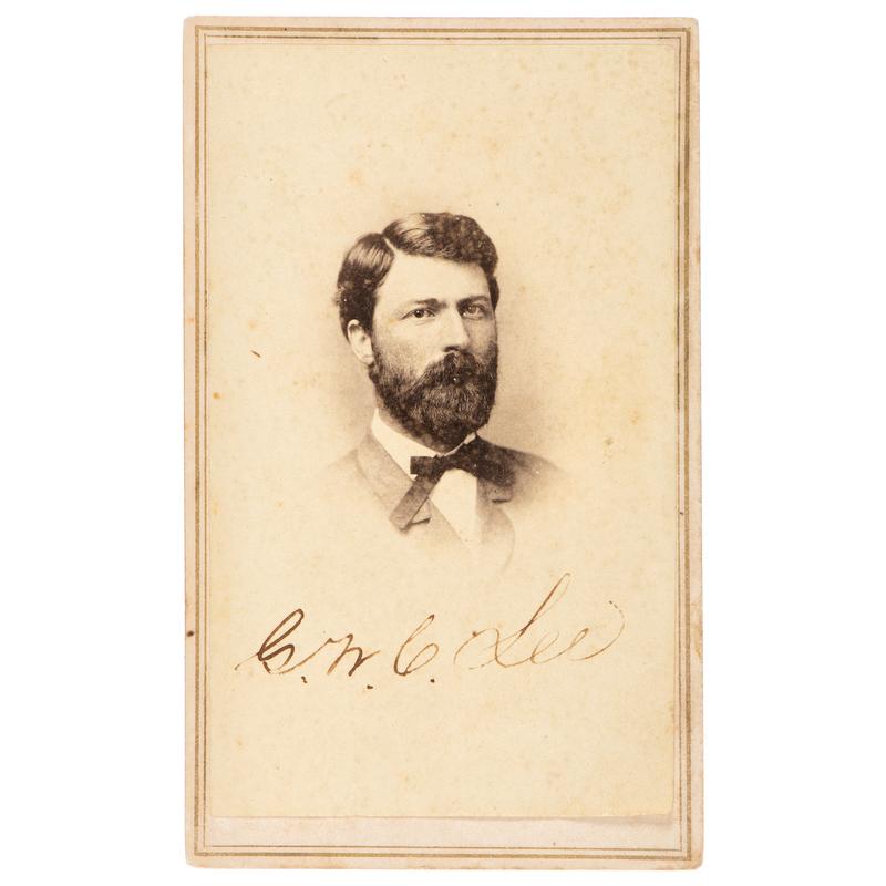 General G.W. Custis Lee Autographed CDV