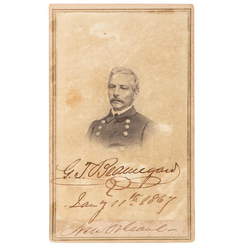 P.G.T. Beauregard Autographed CDV