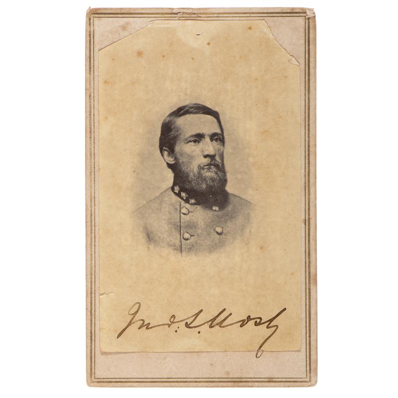 John Singleton Mosby Autographed CDV