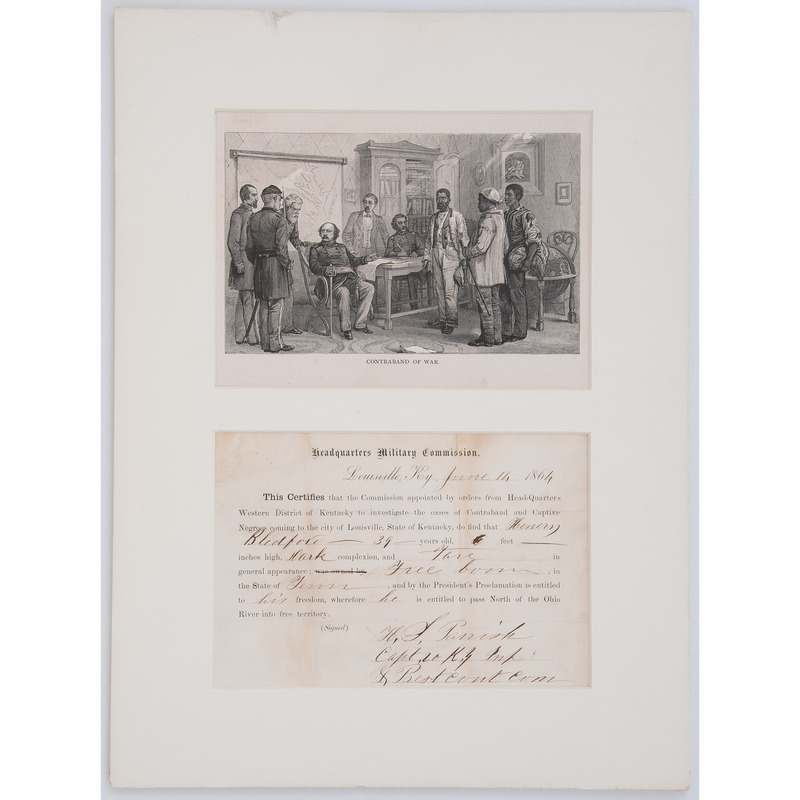 Freedom Papers identified to Henry Bledford, 1864