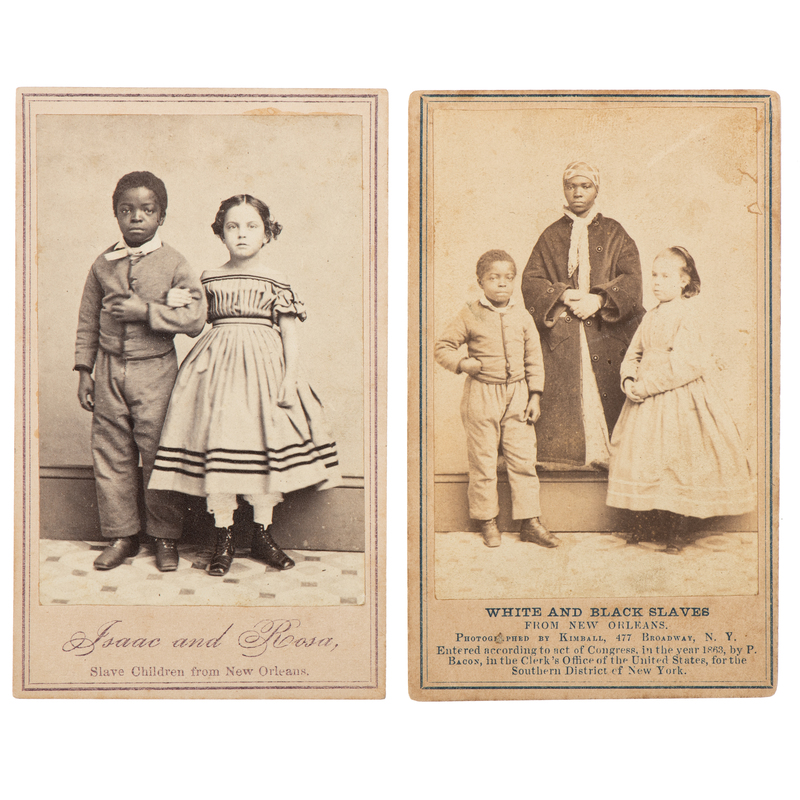 """White and Black Slaves from New Orleans"" CDV, Plus"